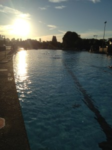 Sunrise Over Kits Pool Copyright Shelagh Donnelly