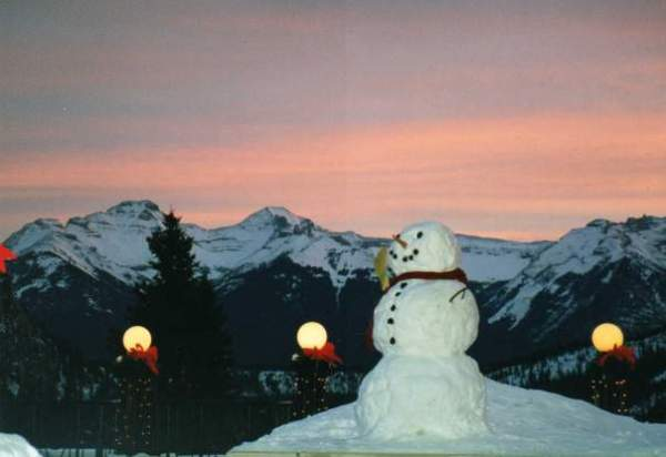 Banff Snowman Copyright Shelagh Donnelly