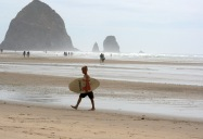 Cannon Beach Paddle Boarder 6154 Copyright Shelagh Donnelly