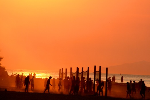 Sunset Volleyball Spanish Banks 6948 Copyright Shelagh Donnelly