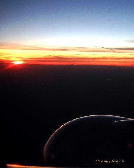 Flying Into Sunset Copyright Shelagh Donnelly