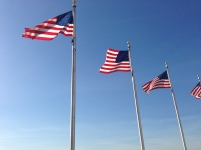 US Flags at Washington Monument