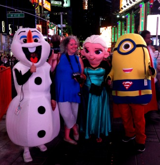 Shelagh and Characters on Broadway NYC